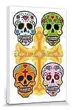 1art1 Crnes Poster Reproduction sur Toile, Tendue sur Chssis - Ttes De Mort Mexicaines,...