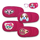 Astropic 4Pcs Left Eye Patches for Kids Glasses (Pink)