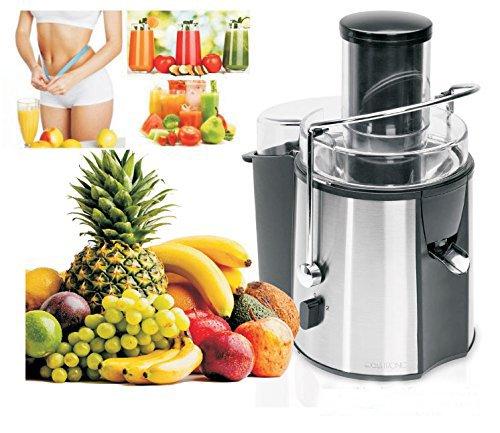 Clatronic, Licuadora de alta Potencia para Frutas y Verduras. Semi profesional 1000 W. Boca ancha. Desmontable para FÁCIL LIMPIEZA AE3532 (2 AÑOS DE GARANTÍA)