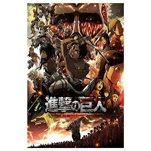 Attack on Titan Poster Japan Anime Posters Aesthetics Home Office Wall Decor and Creative Painting Decoration,Unframed Version (16' x 24') (005)
