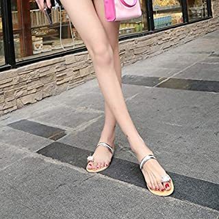 Women Slippers Crystal Female Flip Flops Woman Beach Shoes Ladies Flat Thong Casual Women's Sandals Shiny outdoor slippers (Color : Gold, Shoe Size : 39)