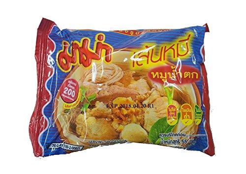 センミ— ムー ナームトック ( 米粉麺 極細麺 55g×30袋入) <ムーナムトックスープ> SEN MEE MOO NAM TOK タイ 袋ラーメン