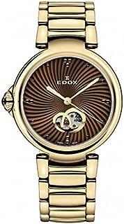 EDOX - 85025 37RM BRIR LaPassion Reloj Suizo automático de Oro Rosa para Mujer