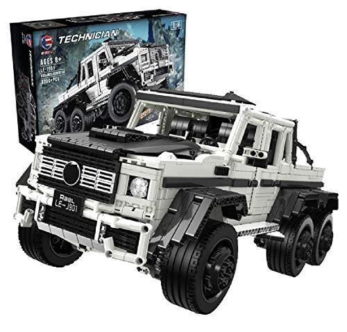 PEXL Technik 6x6 Geländewagen Bausteine für Mercedes G63 AMG, Technic Offroad LKW Modell, 3300 Klemmbausteine Kompatibel mit Lego Technic