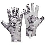 Magreel Angeln Handschuhe für Männer und Frauen UPF 50+ epolsterte Handfläche Maschinenwaschbare...