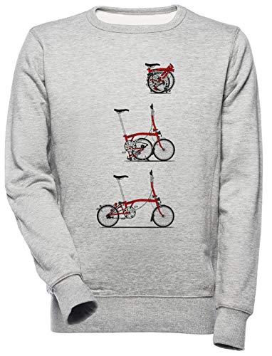 Yo Amor Mi Plegable Brompton Bicicleta Unisexo Hombre Mujer Sudadera Gris Unisex Men's Women's Jumper