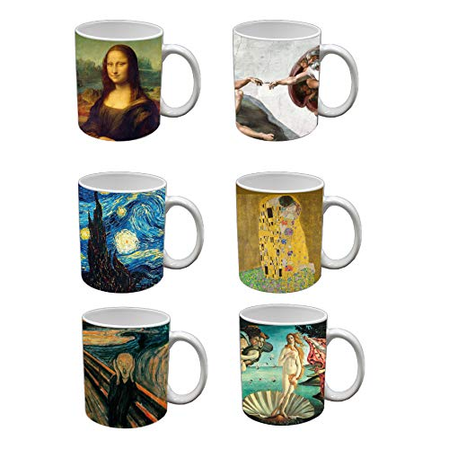 My Custom Style Tazze Mug da 320ml in Ceramica, Collezione: #Arte# Set da 6