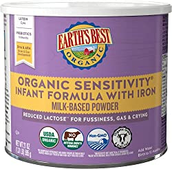#7. Earth's Best Low Lactose Organic Formula