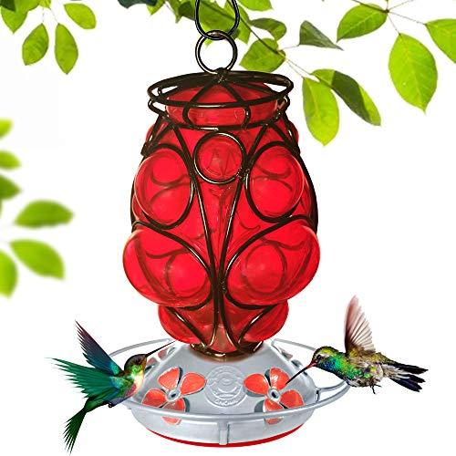 Grateful Gnome - Hummingbird Feeder - Hand Blown Glass -...