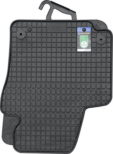 PETEX Gummimatten passend für Golf V Plus ab 02/2005-04/2014 Fußmatten schwarz 4-teilig