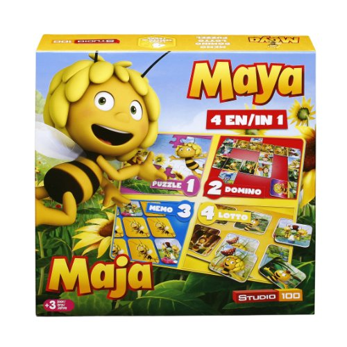 Studio 100 - MEMA00000120 - Die Biene Maja : 4-in-1 Spielebox