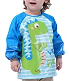 Happy Cherry - Delantal Ropa Babero Impermeable Infantil para pintar con mangas...