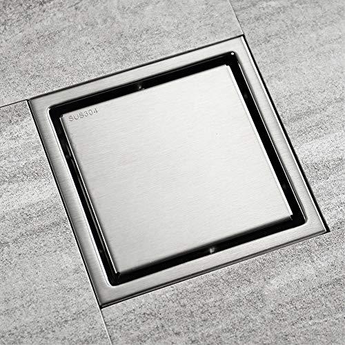 GEPFD-Floor Edelstahl Bodenablauf,Duschrinne Duschablauf Unsichtbar, Hochwertige Quadratische Dusche Abfluss Filter Abnehmbarer Deckel Verwenden Für Bad Balkon Wäsche
