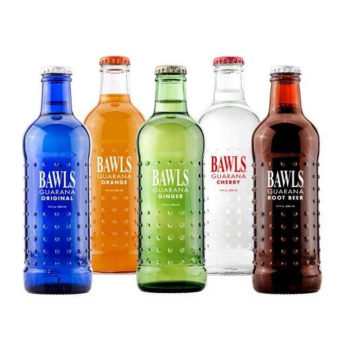 BAWLS Guarana Variety Pack, 5 Flavors (Original, Mandarin Orange, Cherry, Root Beer, Ginger Ale), 10 Oz. Bottles (Pack of 12)