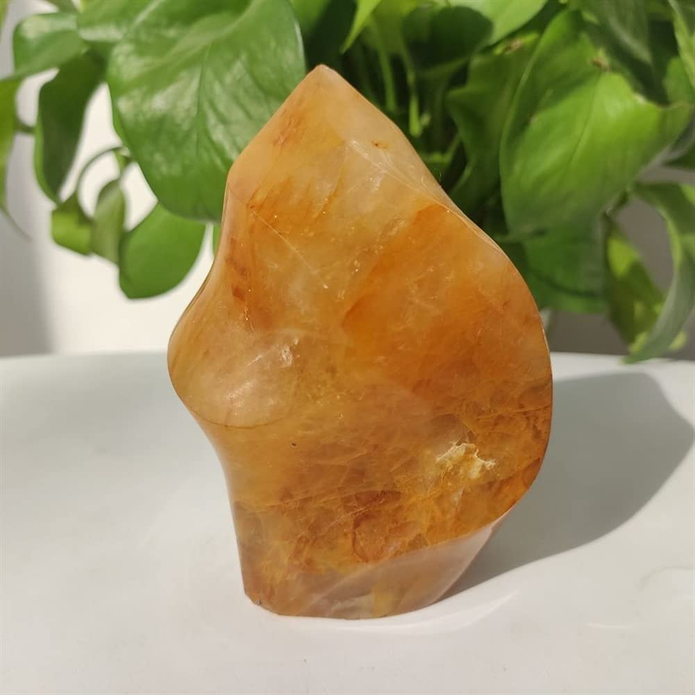 DOURU Mineral Crystal Flame Natural Quartz Torch Golden Popular Max 85% OFF Cr Stone