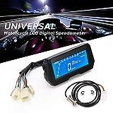 GoolRC 12000RPM 6 Gear Universal Moto LCD Velocímetro Digital Odómetro Luz de Fondo Moto Odómetro para medidor de 2,4 Cilindros