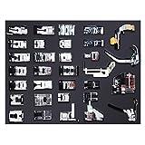 NUZAMAS [UPDATED] Kit de 32 Piezas Multifuncional Prensatelas Accesorios para Máquina de Coser Presser Foot Feet Kit Machines Set