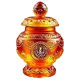 ZJZ Decoraciones de Feng Shui para el hogar Adorno de Botella Budista Tibetano, Ocho esculturas de religión de Acuario Mani auspiciosas, A