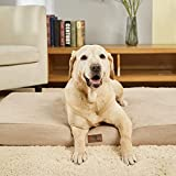 Asvin Memory Foam Orthopedic Extra Large Dog Bed, 3.5 Inches 2 Layers Thick Big Dog Bed for Large Dogs up to 80-100lbs, Waterproof Lining Dog Bed with Removable Washable Cover