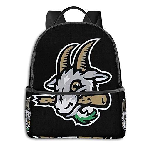 IUBBKI Schwarzer Seitenrucksack Lässige Tagesrucksäcke Zwinz Hartford Yard Goats Backpack