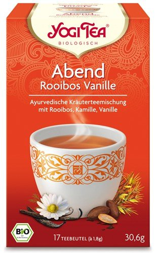Yogi Tee, Abend Tee, Rooibos Vanille, 17 Teebeutel, 30,6 g, BIO