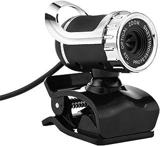 BaZhaHei Cámara de la computadora Videocámara Digital con Clip de 360 Grados con cámara Web USB 12M HD de 360 Grados con micrófono para PC
