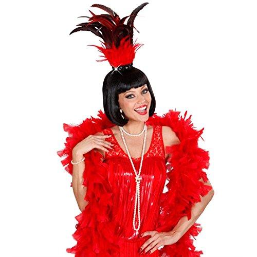 NET TOYS Serre-tête Havane Serre-têtes Plumes avec Paillettes Serre-tête Samba Bandeau Danseuse Bijou de Cheveux Rio Bijou de tête Show Star