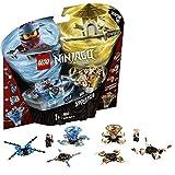 LEGO Ninjago - Spinjitzu Nya & Wu, peonzas azul y dorada de ninjas de juguete (70663) , color/modelo...