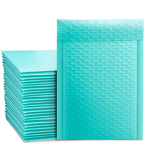 Switory 25 pezzi 21,6 cm x 32 cm Poly Bubble Mailer Buste imbottite Foderato di bolla Poly Mailer Autosigillante Verde