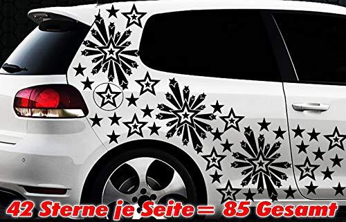 HR-WERBEDESIGN 93 Star Set de Stickers pour Voiture Motif étoiles
