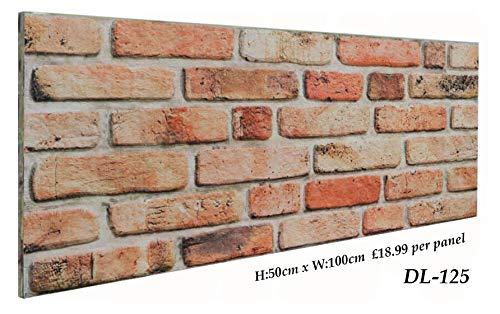 3D Brick Effect Wall Panels Decorative Wall Ceiling Tiles CLADDING POLYSTYRENE Panel Tile 50x100cm (ST125)