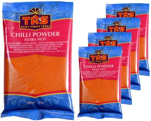 TRS - Extra scharfes Chili Pulver - 5er Pack (5 x 100g)