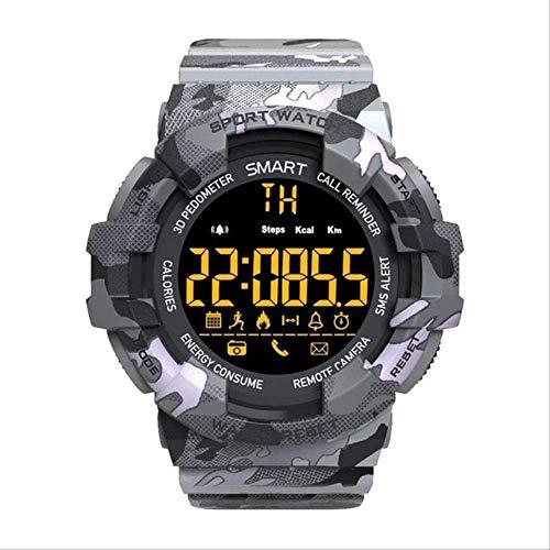 YUJY Smartwatch Sport Military Watch Herren Smart Digital Schrittzähleruhr LED Stoppuhr Smartwatch Sportuhren zum Laufen Android Ios Grey