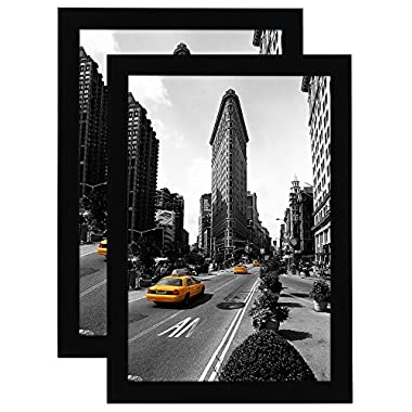 Americanflat 2-Pack - 11x17 Picture Frame - Made for Legal Sized Paper - Wall Mounting Material Included
