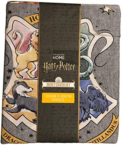 Juego de Cama Harry Potter - Funda de Edredón, Multicolor, 135 x 200 cm