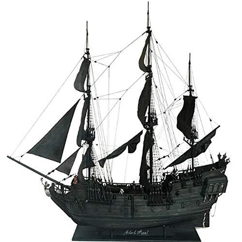 LYXin Kit Modello in Legno Nave Pirati Perla Nera Lunghezza 80 cm