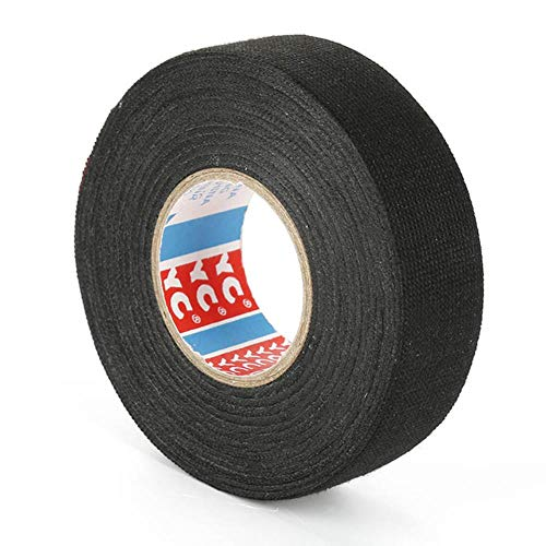 Tings 1 pc hittebestendig Kabelboom Tape Looms Kabelboom Doek Stof Tape Lijm Kabel Bescherming 9/15/19/25 / 32mm x 15 M vlamvertragend, Zwart, Verenigde Staten