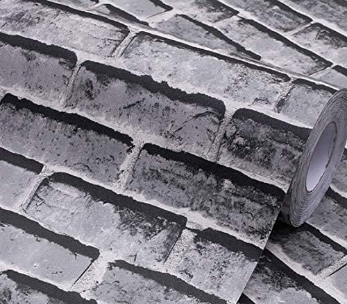 Autoadhesivo 3D tridimensional patrón de ladrillo pegatinas de pared pegatinas retro impermeables y a prueba de humedad pared antigua 60 CM * 12 M D