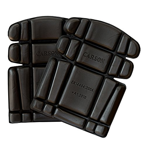 Carson Contrast kniekussen voor werkbroek passend bij de collectie, 1 paar, one-size, zwart, KSAB