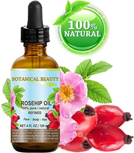 Escaramujo aceite 100% puro/Natural/refinado/sin diluir para cara, cuerpo, Pelo y Uñas Cuidado. 4fl. oz.-120ml.