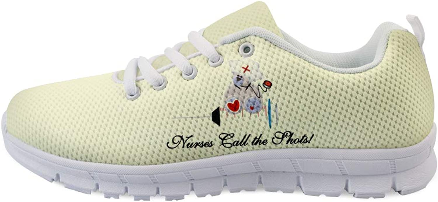 Owaheson Lace-up Sneaker Training shoes Mens Womens Teddy Bear Nurses Call The Shots