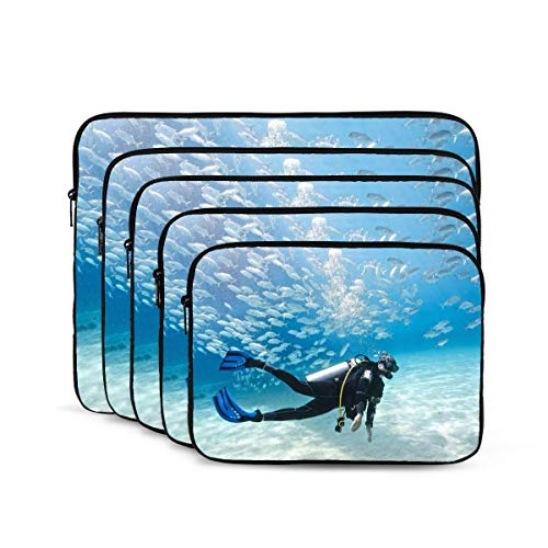 Underwater Scuba Diving Laptop Sleeve 15 inch, Shock Resistant Notebook Briefcase, Computer Protective Bag, Tablet Carrying Case for MacBook Pro/MacBook Air/Asus/Dell/Lenovo/Hp/Samsung/Sony