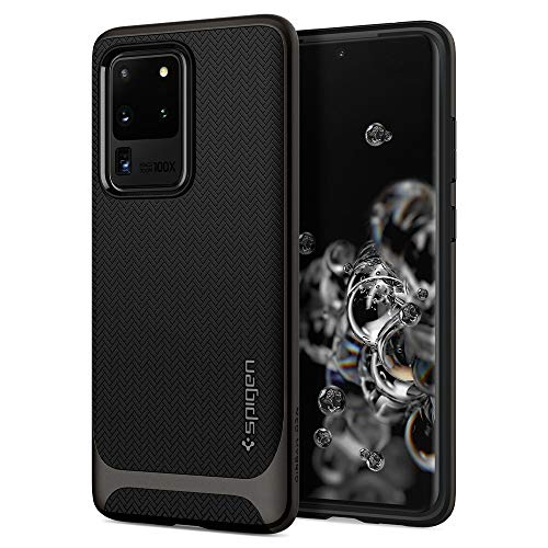 Spigen Neo Hybrid Compatible with Galaxy S20 Ultra (6.9 inch) Shockproof Hard Frame Flexible Inner Protection Phone Case for Galaxy S20 Ultra (6.9 inch) - Gunmetal