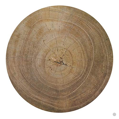 Fennco Styles Natural Wood Print Decorative Cork Placemats for Round Table