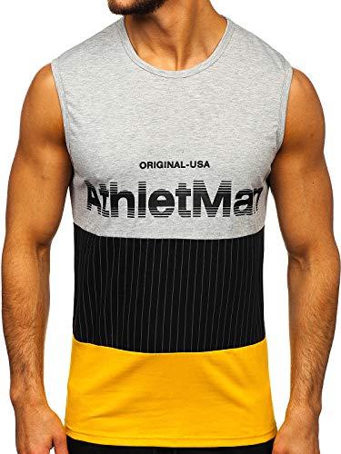 BOLF Hombre Camiseta Tank Top Camiseta de Tirantes Estampada Escote Redondo Camiseta...