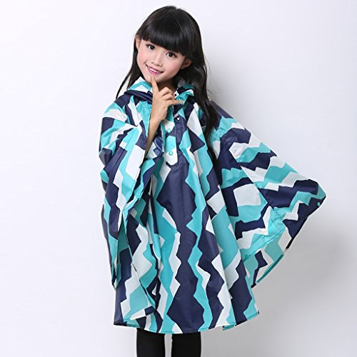 Vestes anti-pluie QFF Cloak Style Enfant Raincoat Boy Lovely Student Poncho Waterproof Princess Girl (Couleur : #3, Taille : S)