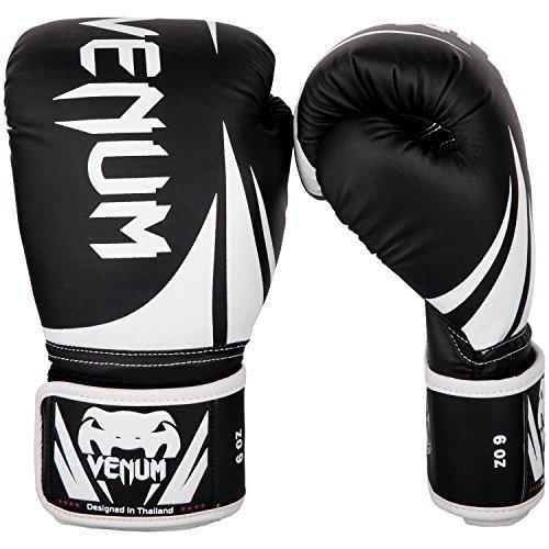 Venum Challenger 2.0 Kids Boxing Gloves - 8oz, Black/White, 8 oz