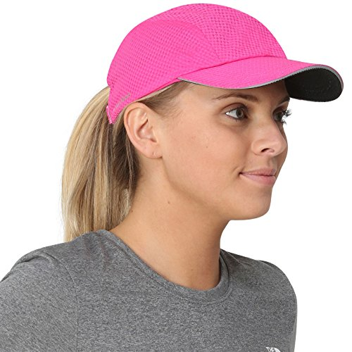 TrailHeads Race Day Performance Running Cap | The Lightweight, Quick Dry, Sport Cap for Women - Pink Punch