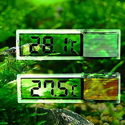 Egurs Fish Tank Thermometer, Aquarium 3D Digitale Elektronische Thermometer Aquarium LED Externe Gemonteerde Kristallen Sensor Energiebesparing Water Temperatuur Meter