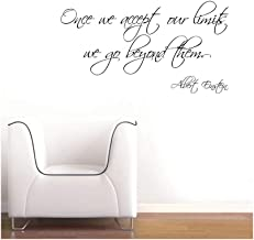 Wall Decal Quote Words Lettering Decor Sticker Wall Vinyl Once We Accept Our Limits We Go Beyond Them